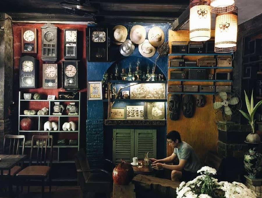 mẫu thiết kế quán cà phê phong cách retro - công ty xây dựng brocons