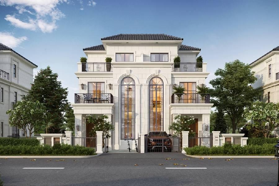 mẫu thiết kế biệt thự 3 tầng công ty xây dựng brocons