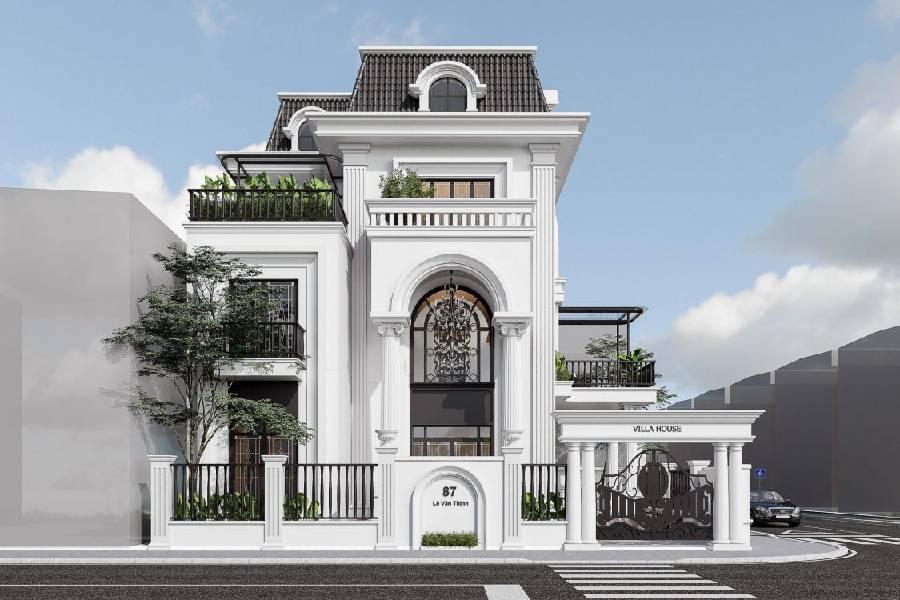 mẫu thiết kế biệt thự 3 tầng kiến trúc châu âu công ty xây dựng brocons