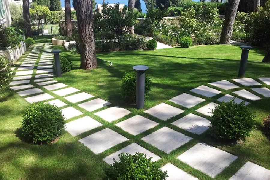 mẫu thiết kế lối đi sân vườn cho biệt thự đẹp công ty xây dựng brocons