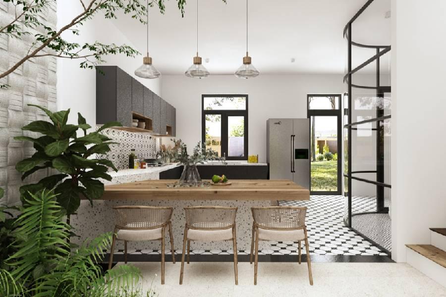 mẫu thiết kế nội thất phong cách địa trrung hải công ty xây dựng brocons