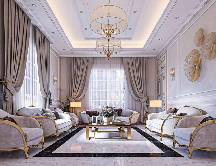 mẫu thiết kế nội thất phong cách cổ điển công ty xây dựng brocons