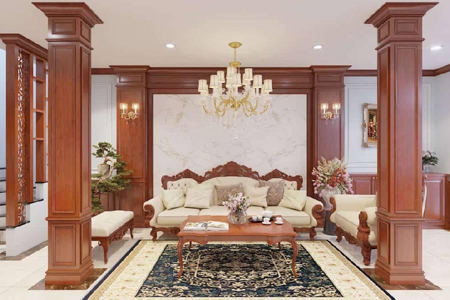 mẫu thiết kế nội thất phòng khách công ty xây dựng brocons