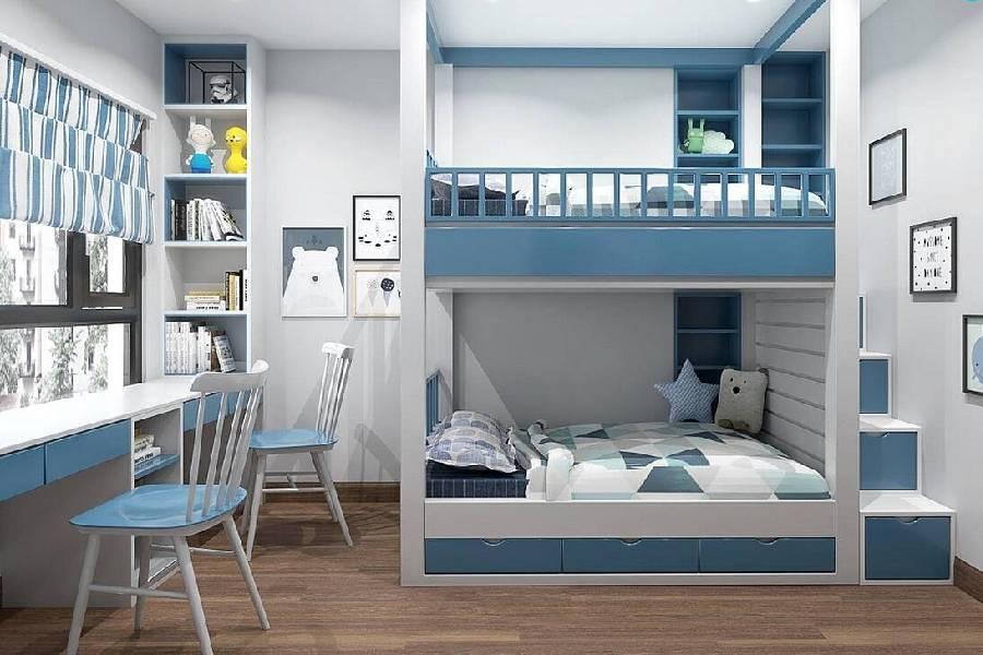 mẫu thiết kế nội thất phòng ngủ cho bé trai
