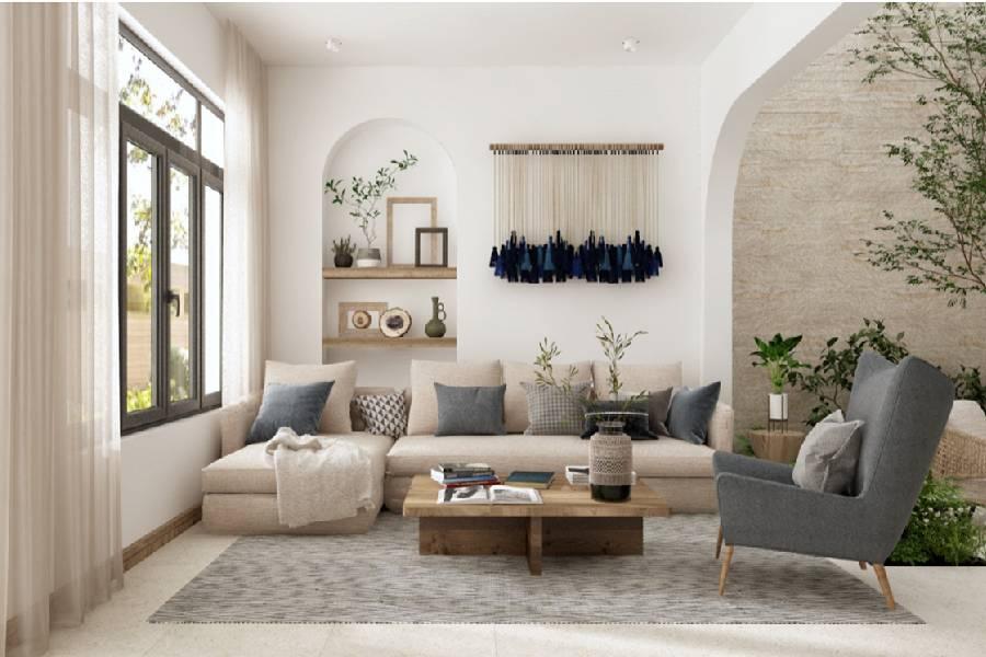 mẫu thiết kế nội thất  phong cách địa trung hải công ty xây dựng brocons