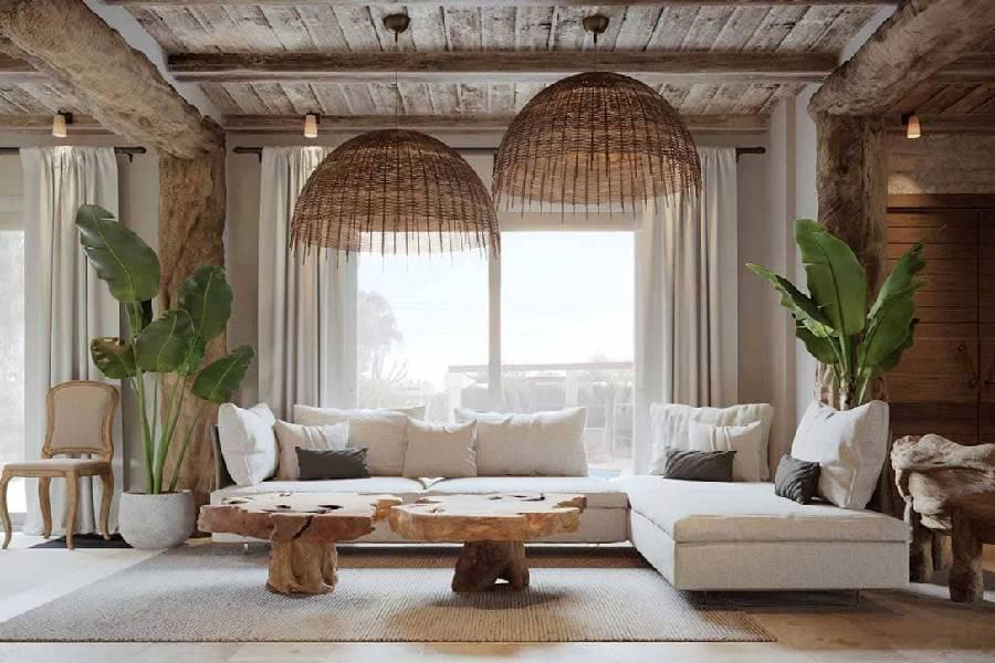 mẫu thiết kế nội thất phòng khách phong cách địa trung hải công ty xây dựng brocons