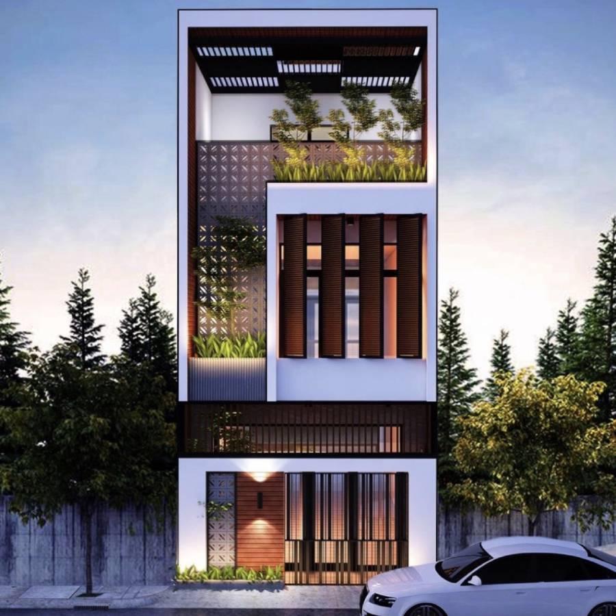 thiết kế nhà phố 3 tầng đẹp công ty xây dựng Brocons