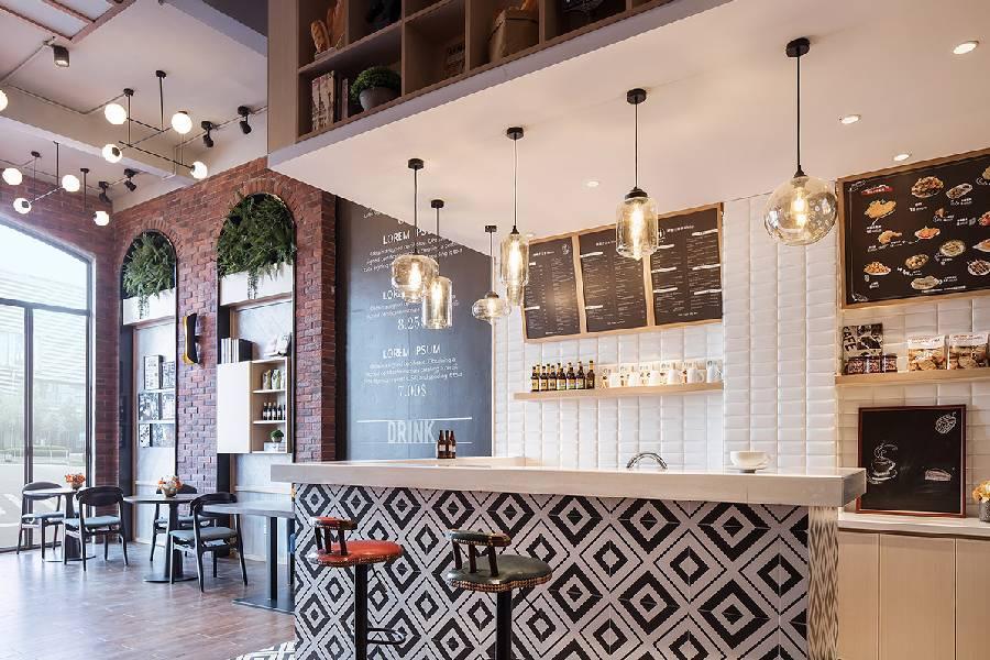 mẫu thiết kế quán cà phê phong cách công nghiệp công ty xây dựng brocons
