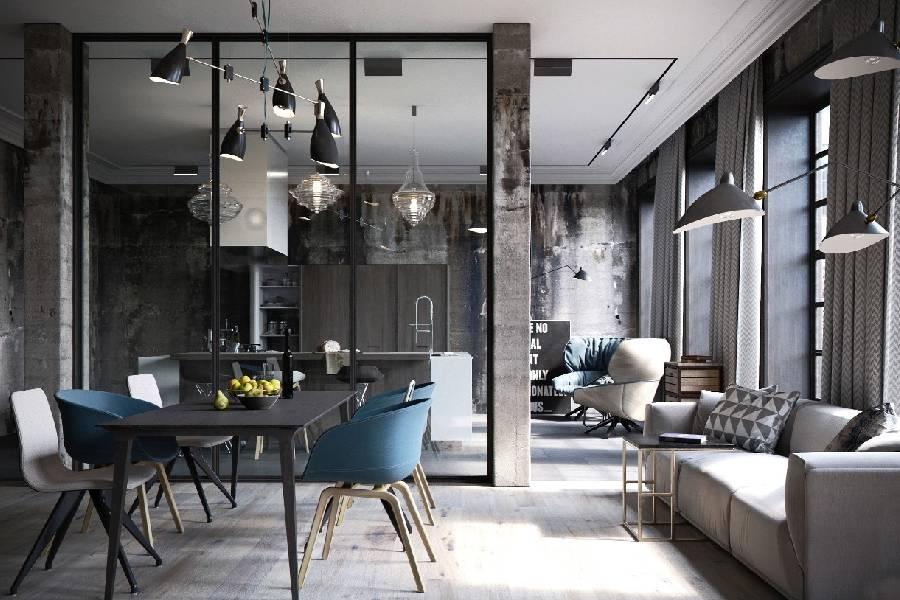 mẫu thiết kế quán cà phê phong cách công nghiệp xây dựng brocons