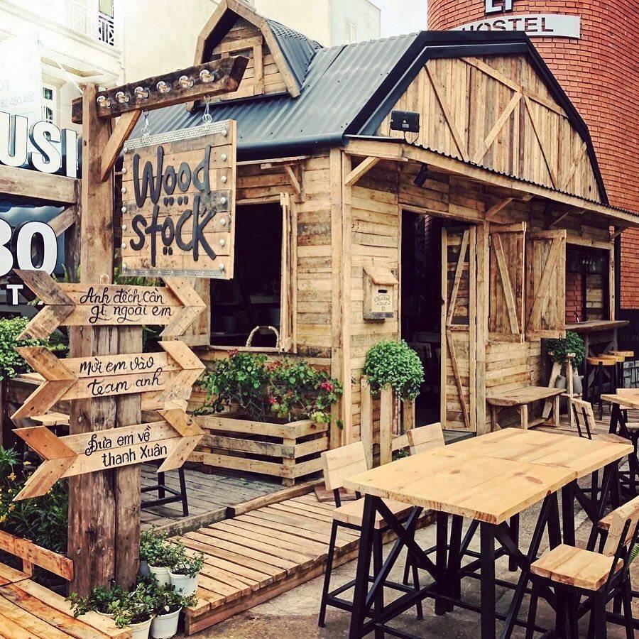 quán cà phê phong cách rustic công ty xây dựng brocons