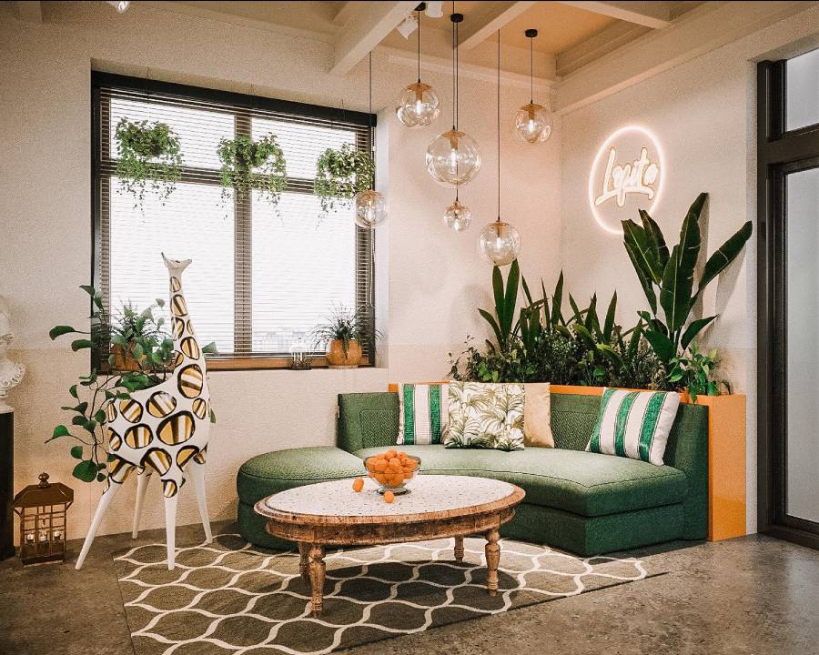 mẫu thiết kế quán cà phê phong cách rustic