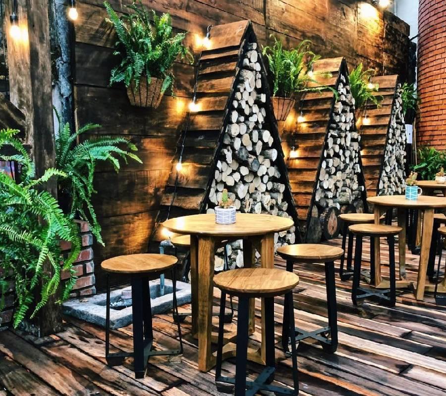 mẫu thiết kế quán cà phê phong cách rustic công ty xây dựng brocons