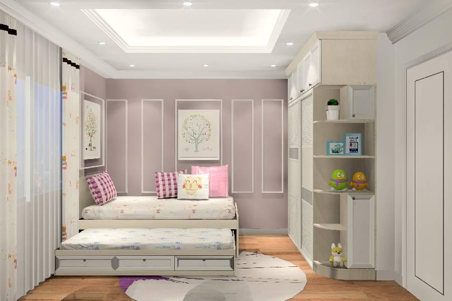 mẫu thiết kế nội thất phòng ngủ diện tích nhỏ, công ty xây dựng brocons